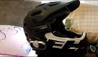 Bell fullface Helmet (mips) with vmoto v8 bluetooth headset
