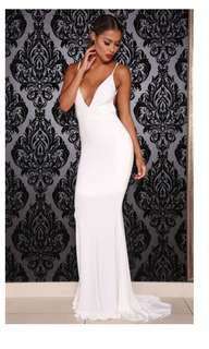 Abyss by Abby white formal gown