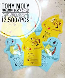 TONY MOLY mask sheet pokemon edition (pikachu & squirtle)