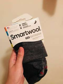 REAL and new Timbaland smartwool wool socks size M unisex grey 羊毛