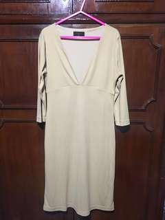 Low Front Body Hugging Dress