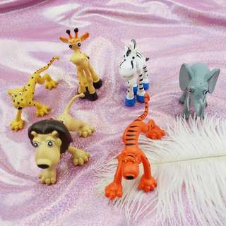 Cute Zoo Animals Cake Toppers / Figurines