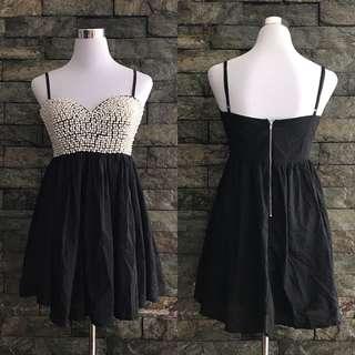 ALLY beaded bustier dress