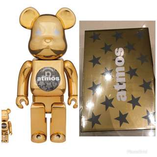 Atmos Gold bearbrick