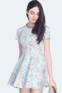 Fayth Tierra Dress in Pastel Blue size M