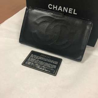 Chanel wallet black lambskin #2 with holo and paperbag