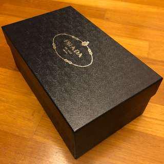 Prada Classic Shoe Box - Size 9UK (Dark Blue)
