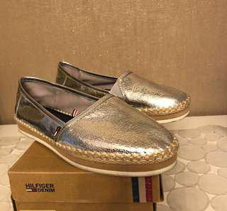 Hilfiger demim shoes silver