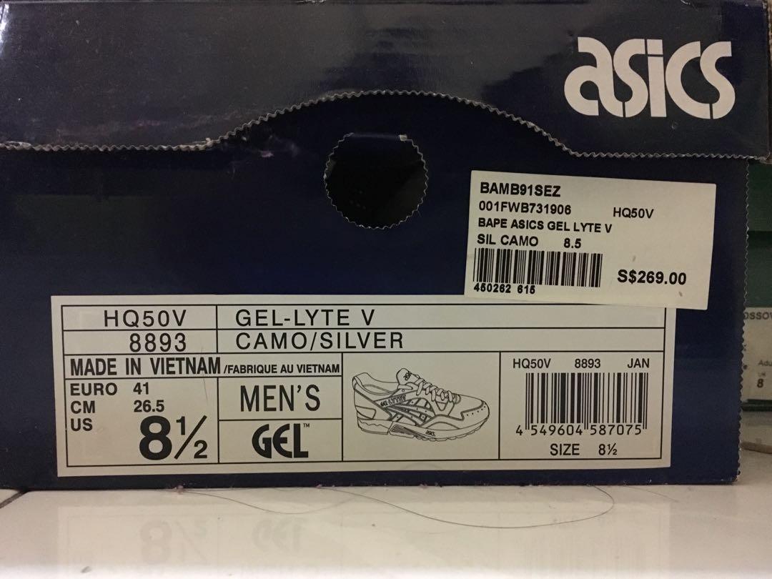 new style 61db3 aa2c5 Asics Gel Lyte V x Bape, Men's Fashion, Footwear, Sneakers ...