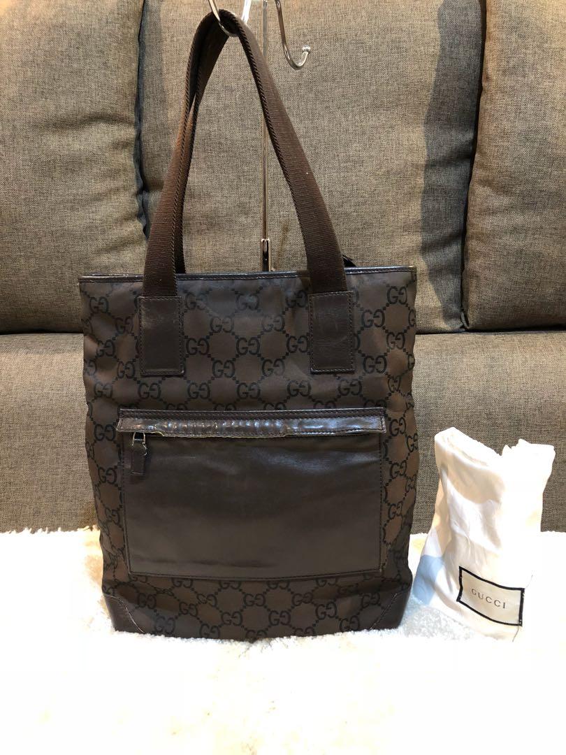 f6591f448b5 Authentic Gucci Nylon Tote With Dustbag