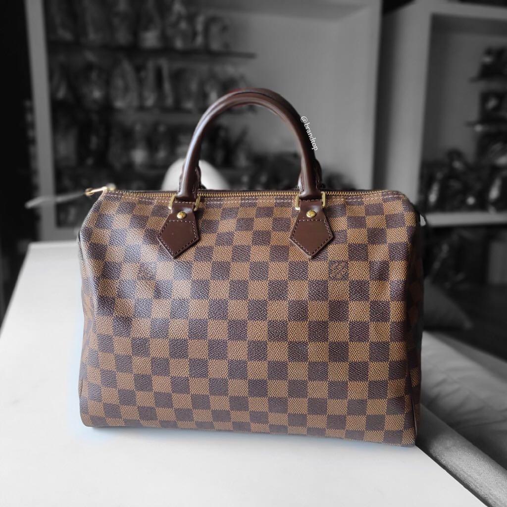 Authentic Louis Vuitton Damier Ebene Speedy 30 LV a40c35d40327f