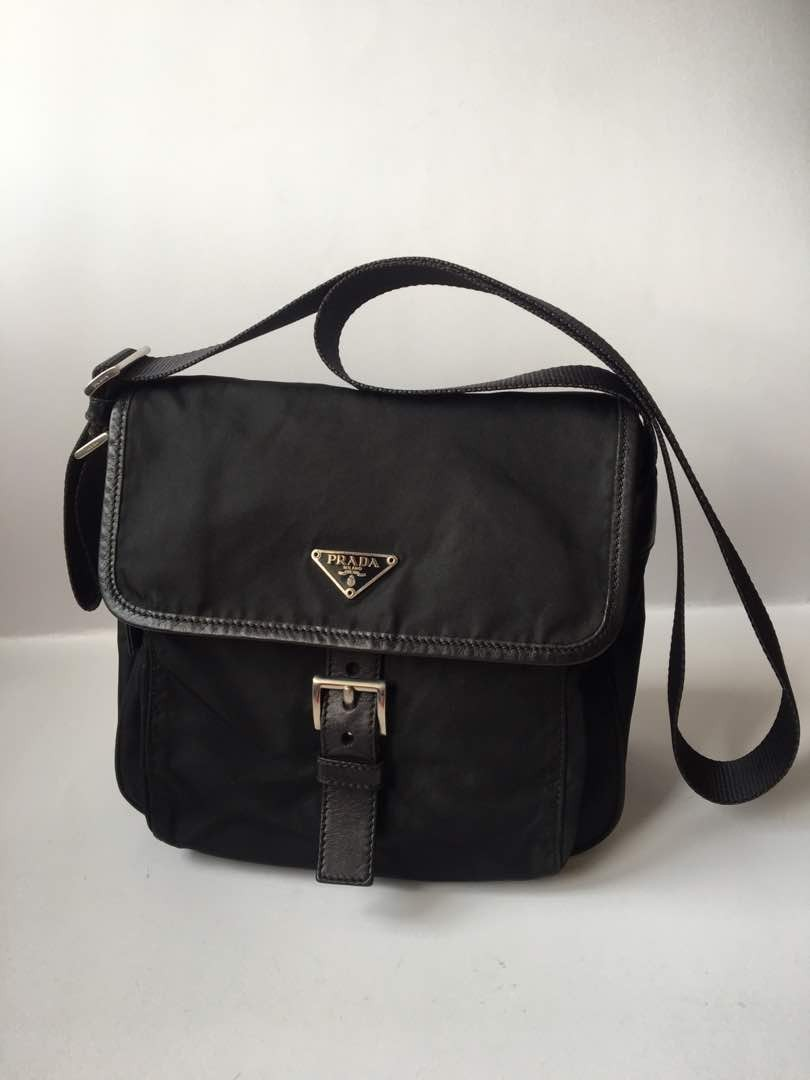 c1352fa28b57 Authentic Prada Tessuto Nylon Small Messenger Bag
