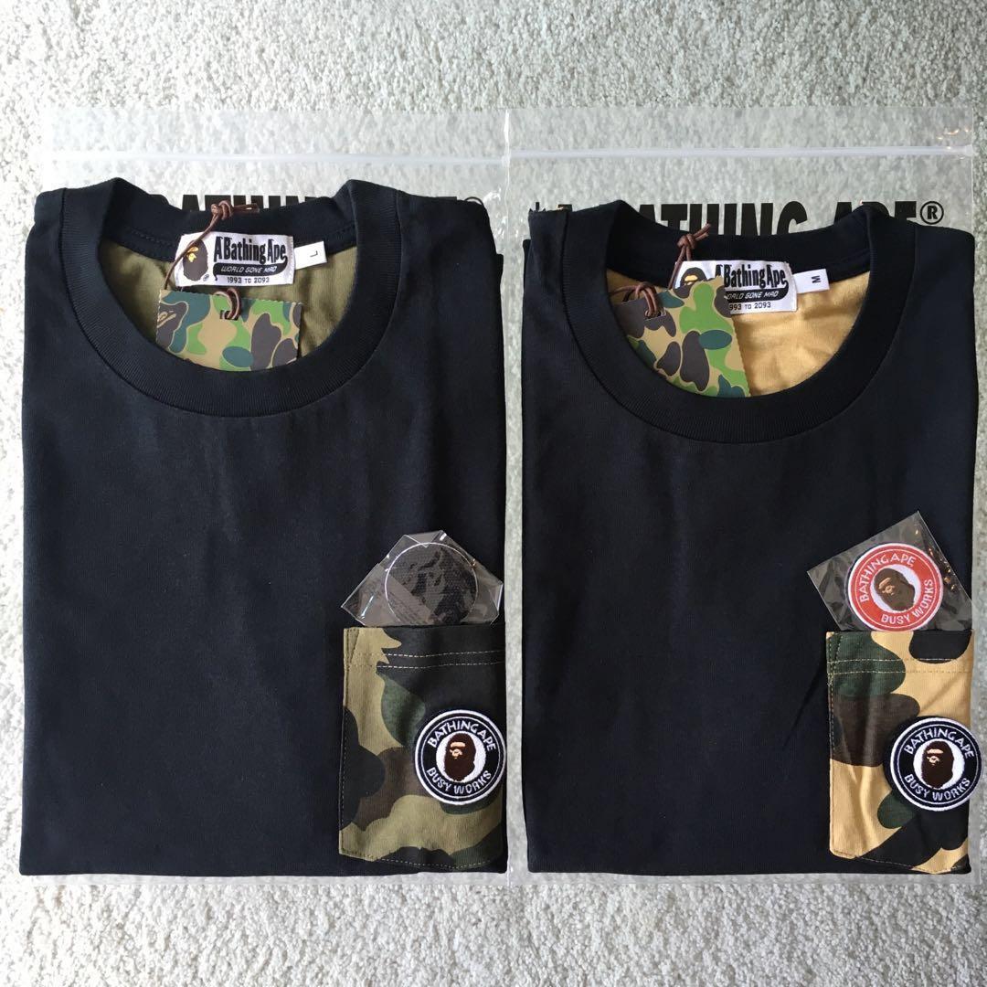 f3baf9da BAPE 1ST CAMO ATS POCKET TEE, Men's Fashion, Clothes, Tops on Carousell
