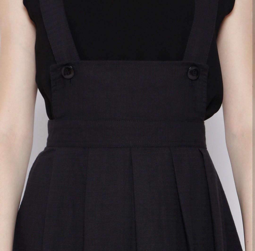 Black Jumpsuit Skirt