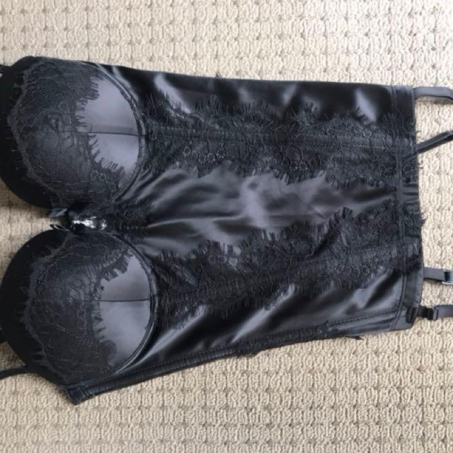Black lingerie set sold together never used