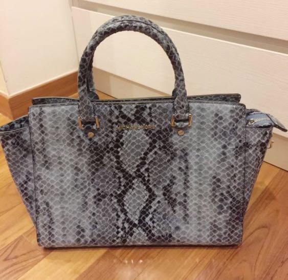 ce13d2c76ccb19 BN Michael Kors Exotic Skin Handbag (suitable For Work Bag/Causal Bag),  Women's Fashion, Bags & Wallets, Handbags on Carousell