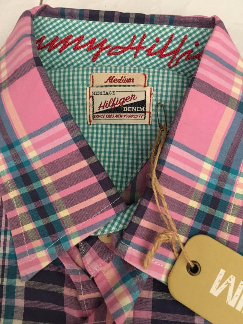 698fee1c BNWT Tommy Hilfiger Denim Long Sleeve Shirt Men M, Men's Fashion, Clothes,  Tops on Carousell