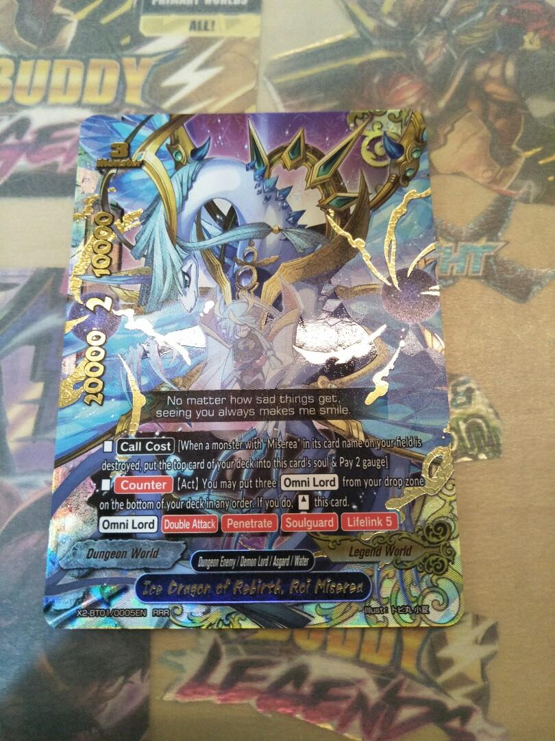 BUDDYFIGHT,X2-BT01, Ice Dragon Of Rebirth, Roi Miserea