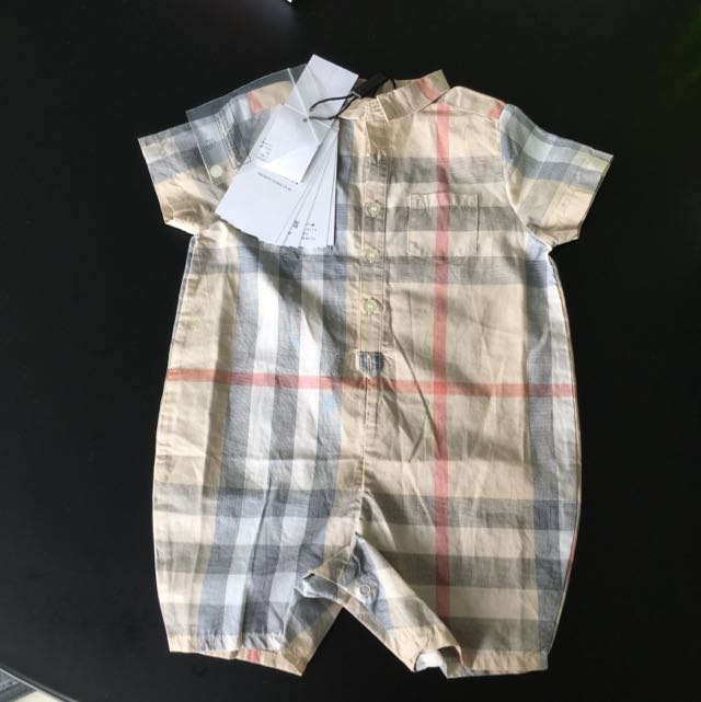 264500bf368 Burberry Classic Checked Cotton Playsuit - Price Reduced!!