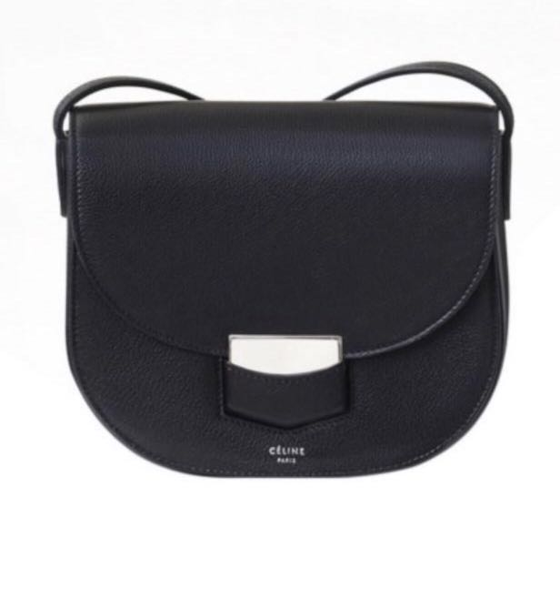 962834634b2a Celine Small Trotteur Bag Grained Calfskin Sling Handbag