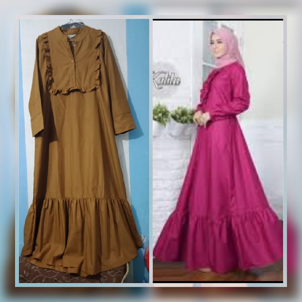 Gamis Bahan Toyobo Women S Fashion Muslim Fashion On Carousell