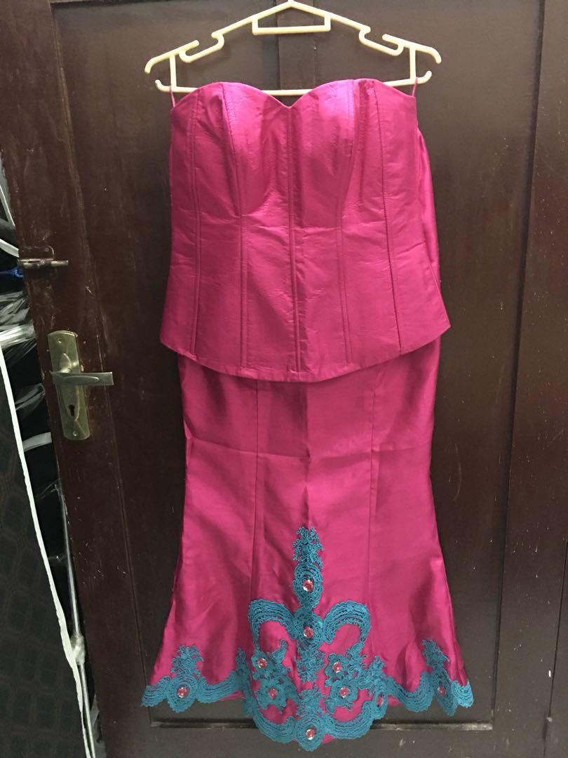Kebaya Set Brokat Pink Fanta Women S Fashion Women S Clothes