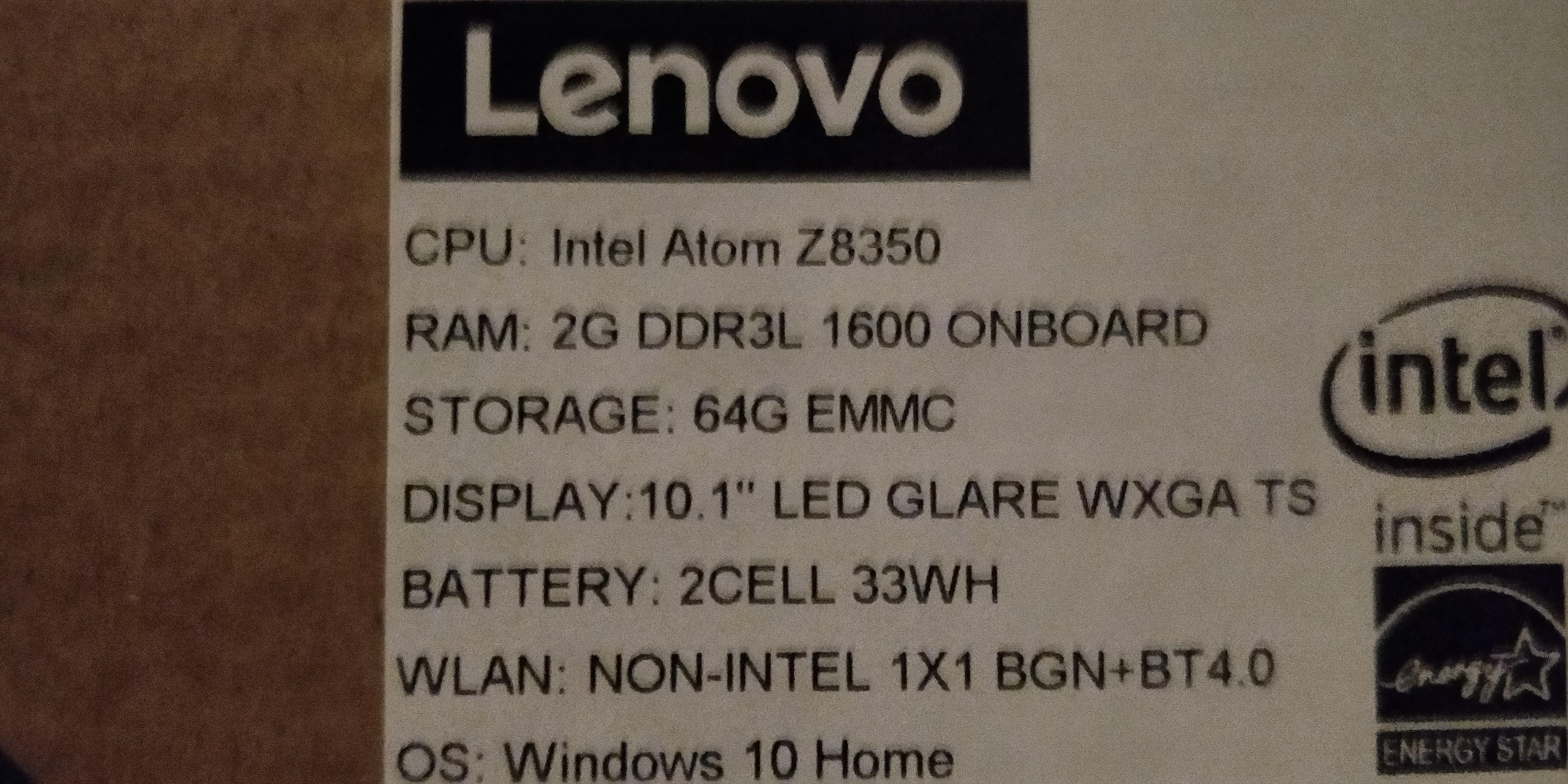 Lenovo Miix 310 Brand New