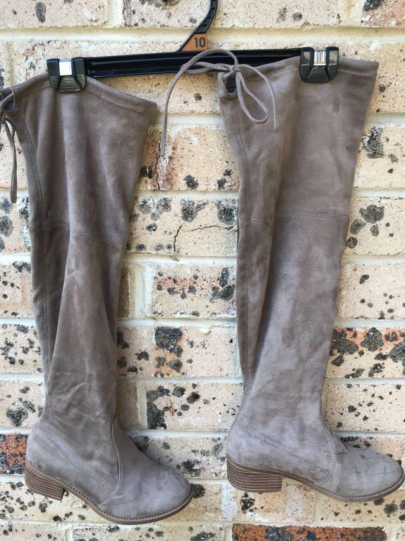 Light brown high knee boots