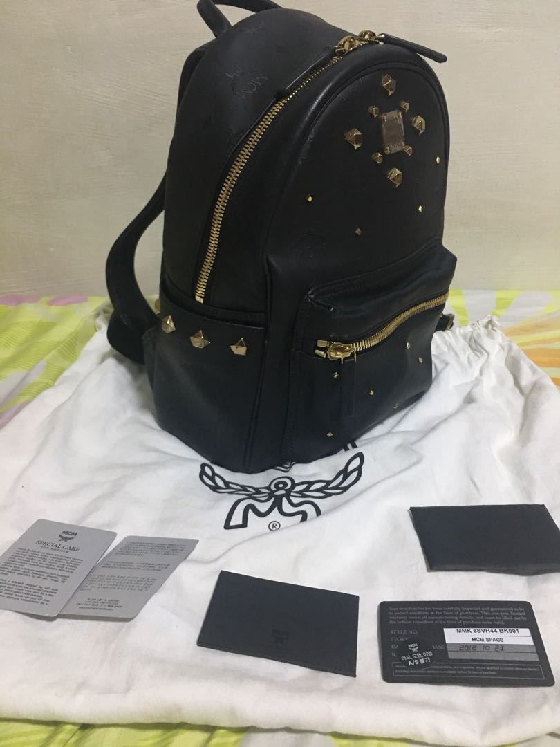 a15836ae9d56e MCM STARK ODEON BACKPACK BLACK, Luxury, Bags & Wallets, Backpacks on ...