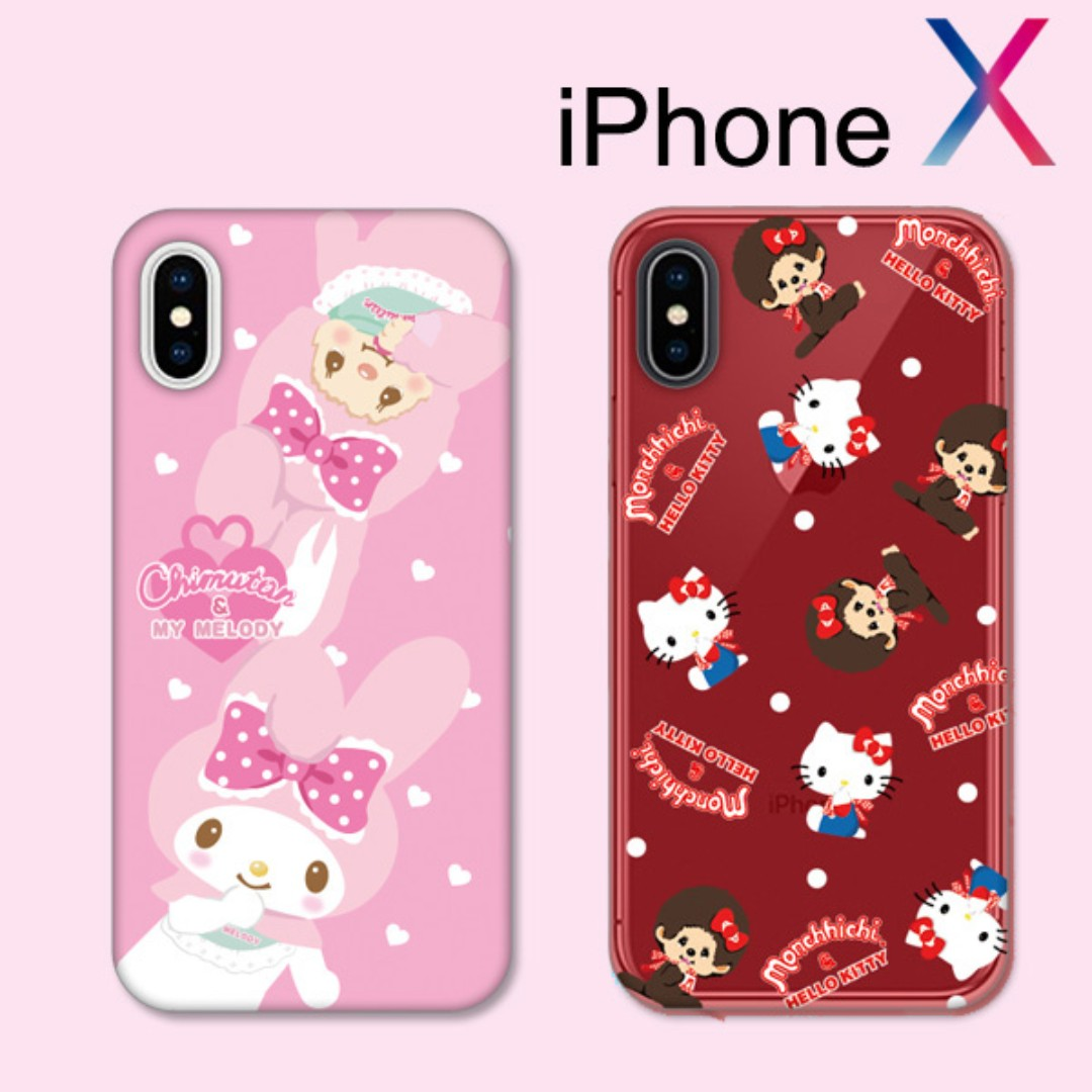 sale retailer 0a39e b7c61 Monchhichi x Hello Kitty x Melody - case for iphone X