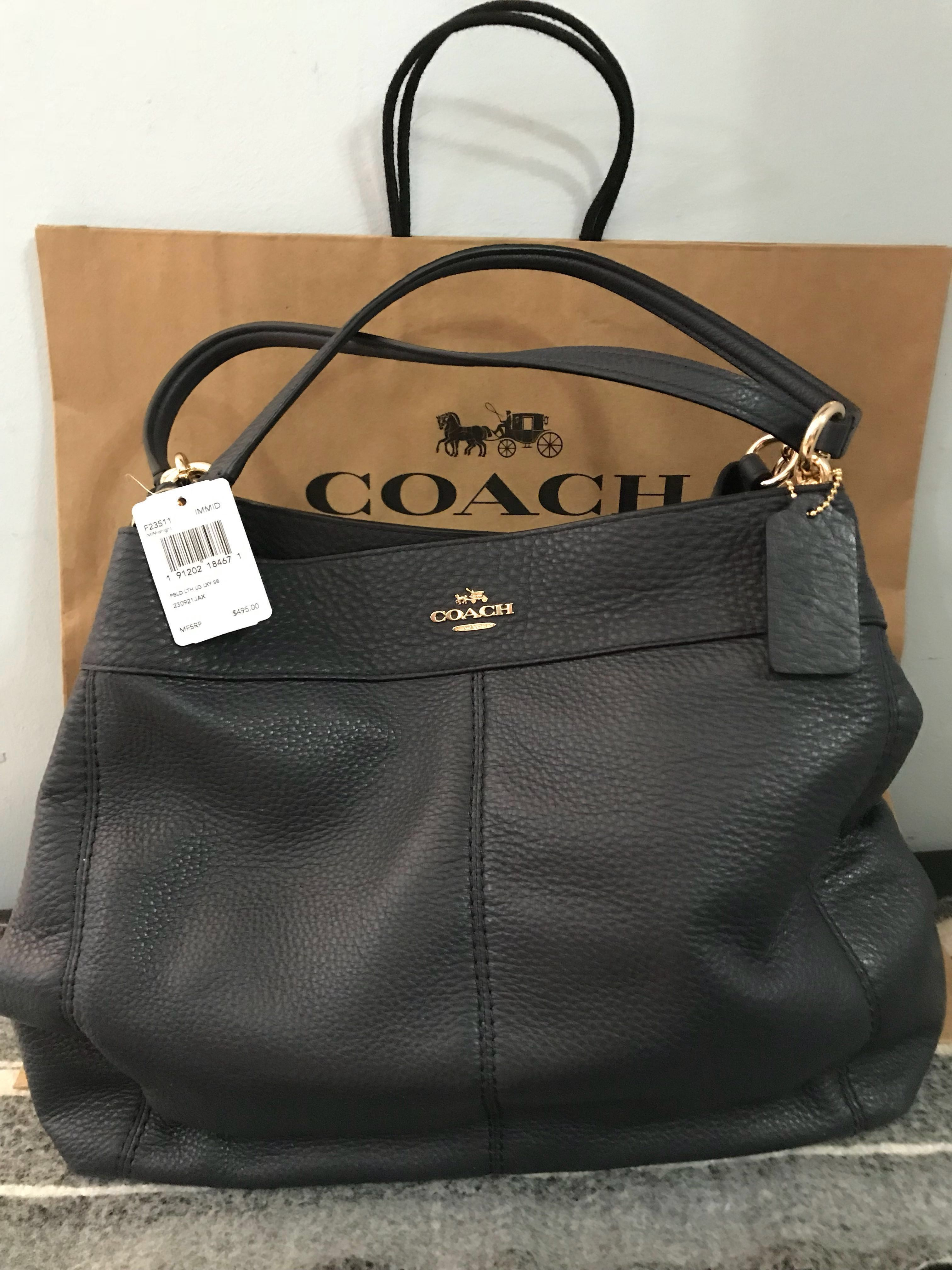 01e4eee1a46 ... discount original pebbled leather large coach f23511 bag from us womens  fashion bags wallets on carousell