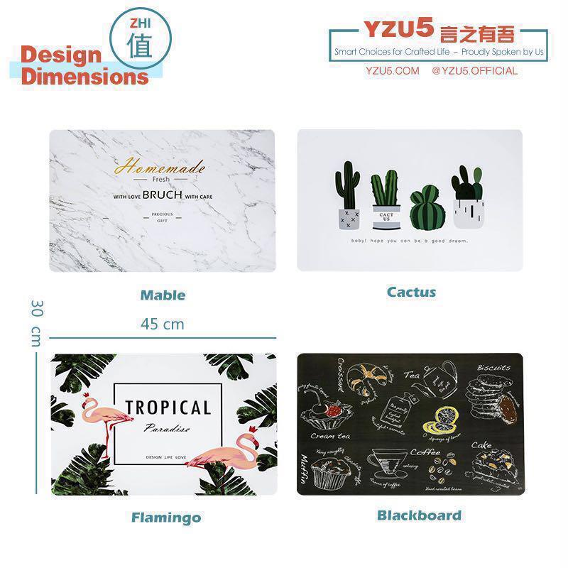 PP Waterproof Place Mat Table Wear TableCloth Dinning Pad Mable Placemat Flamingo Coaster