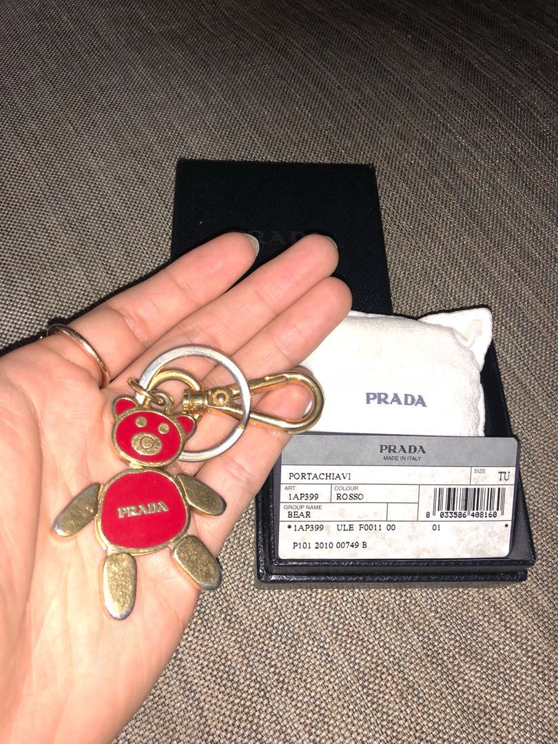 1eb76df4f Prada Wallet Teddy Bear Key Charm Key Ring, Luxury, Accessories ...