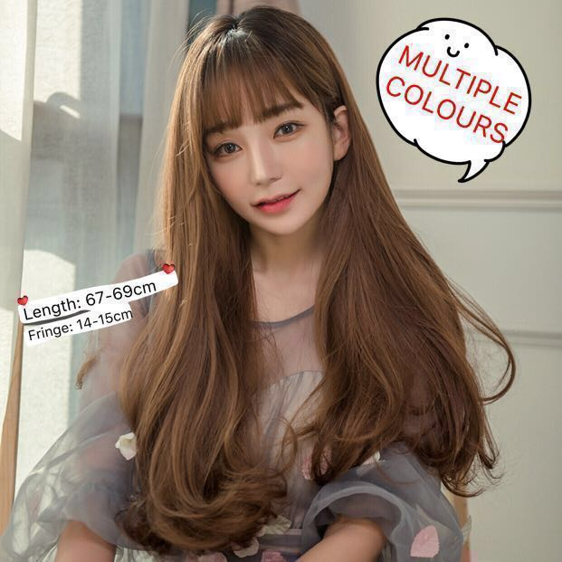 Pre Order Korean Style 67cm Long Hair Wig With Big Wave 4 Colours