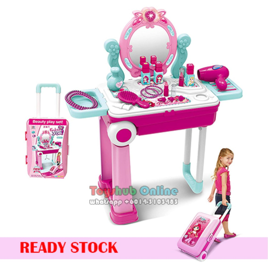 pretend play makeup toy playset beauty princess dressing table