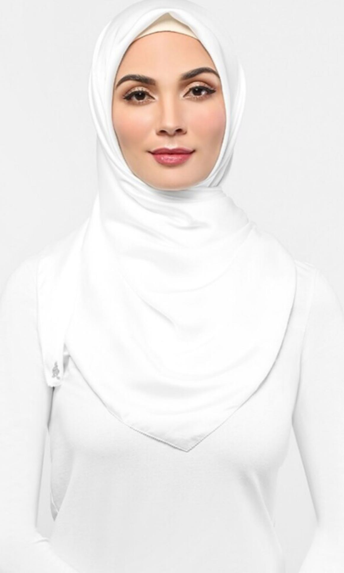 Duck Satin Silk Square Scarf In Lychee Muslimah Fashion Scarves On Hijab Segitiga Buble Georgete Carousell