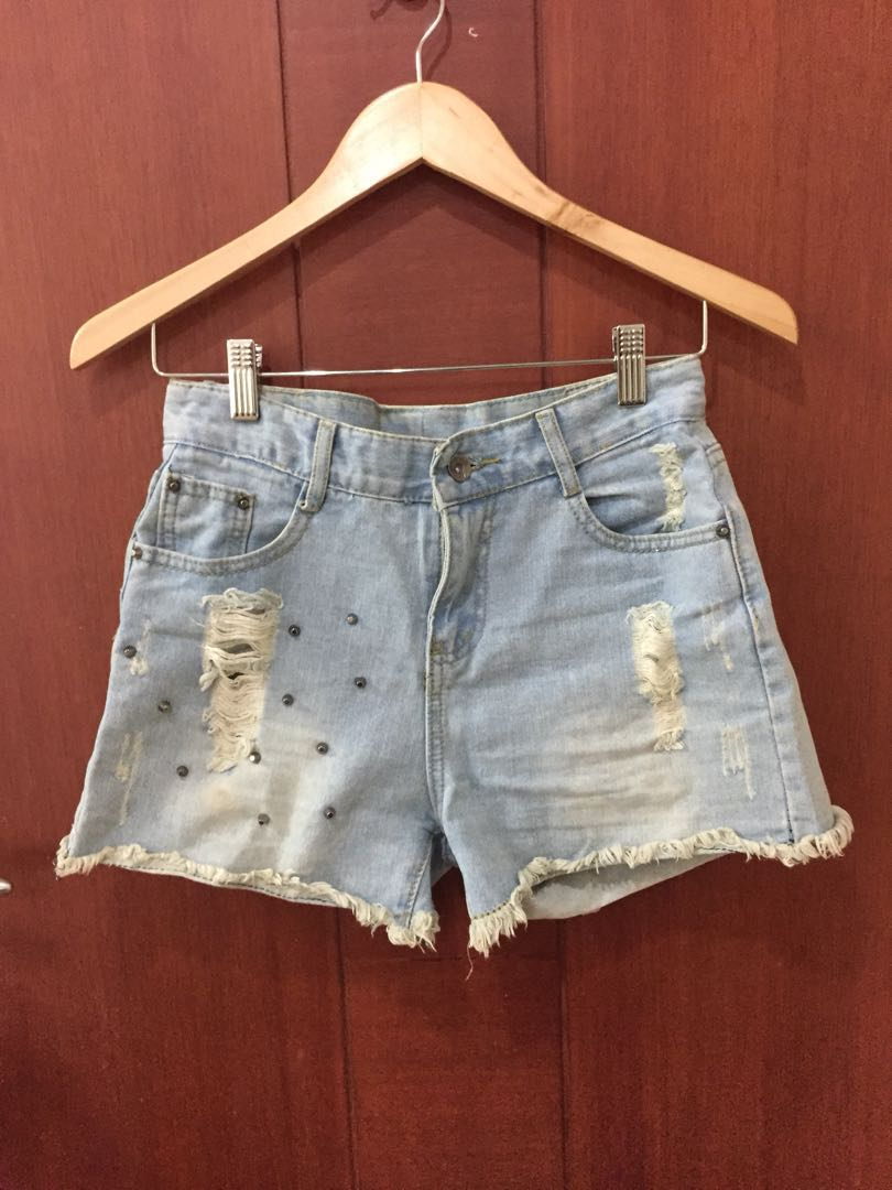 Short Jeans Stud Import   Celana Pendek Studd Ripped Rawis 6905d91057