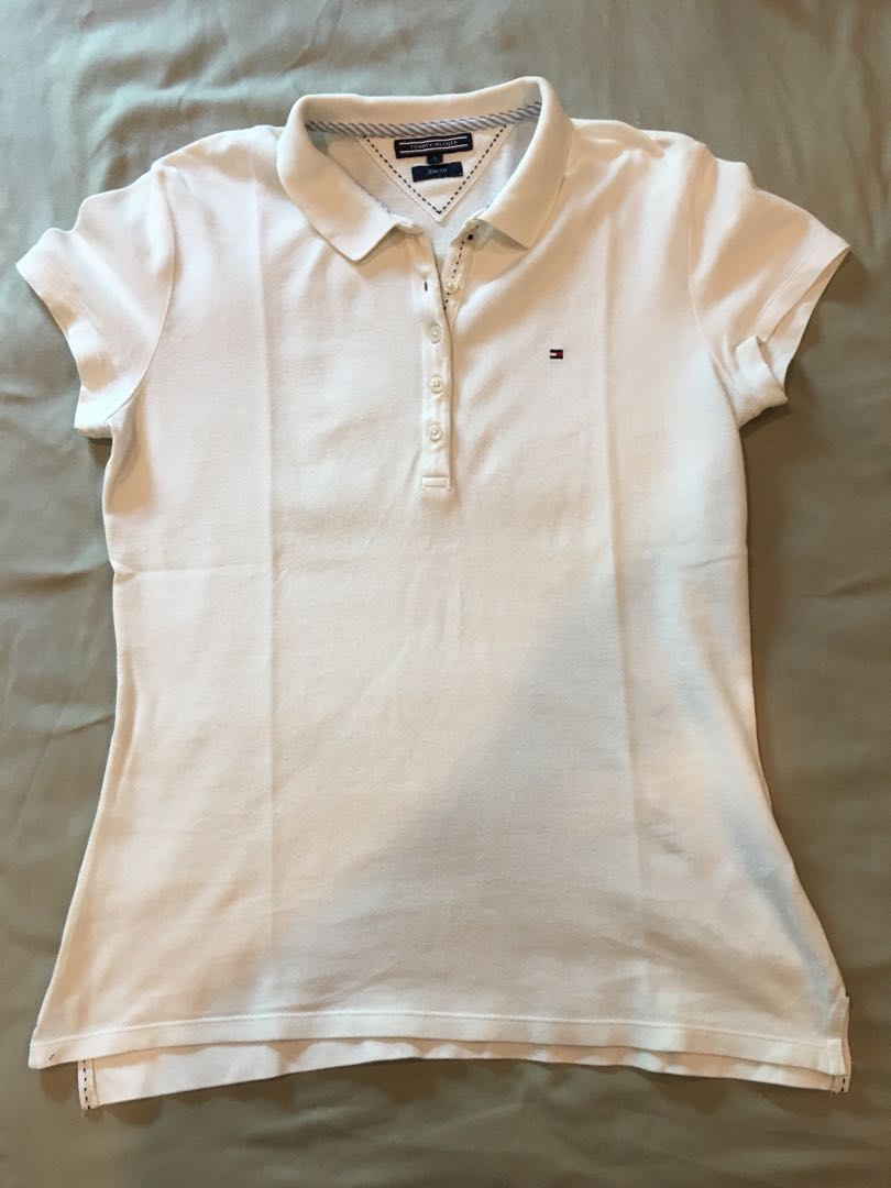 b3317244 Tommy Hilfiger Polo white T slim fit #august75, Women's Fashion ...