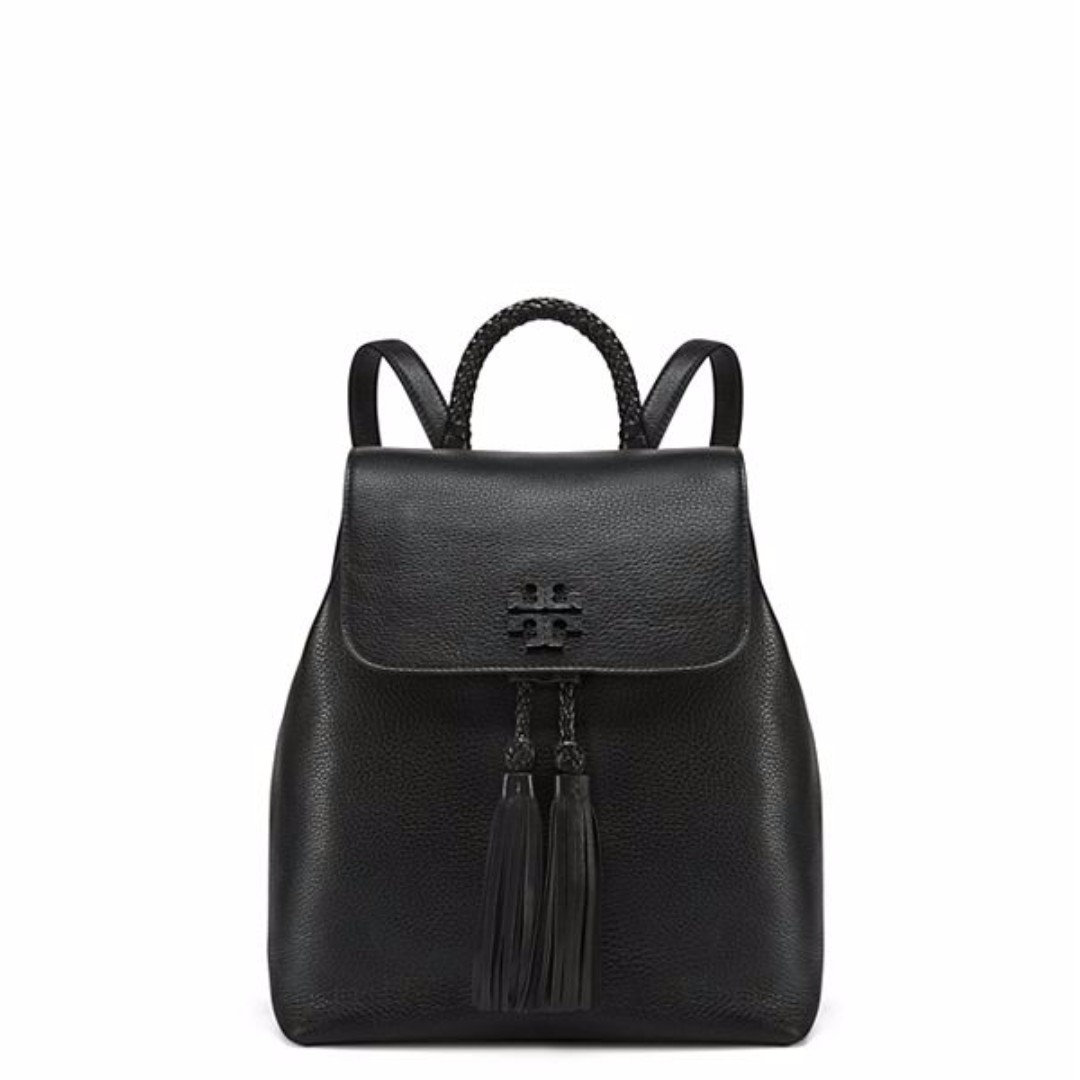 9e578afe44 Tory Burch 38559 Taylor Leather Tassel Drawstring Backpack