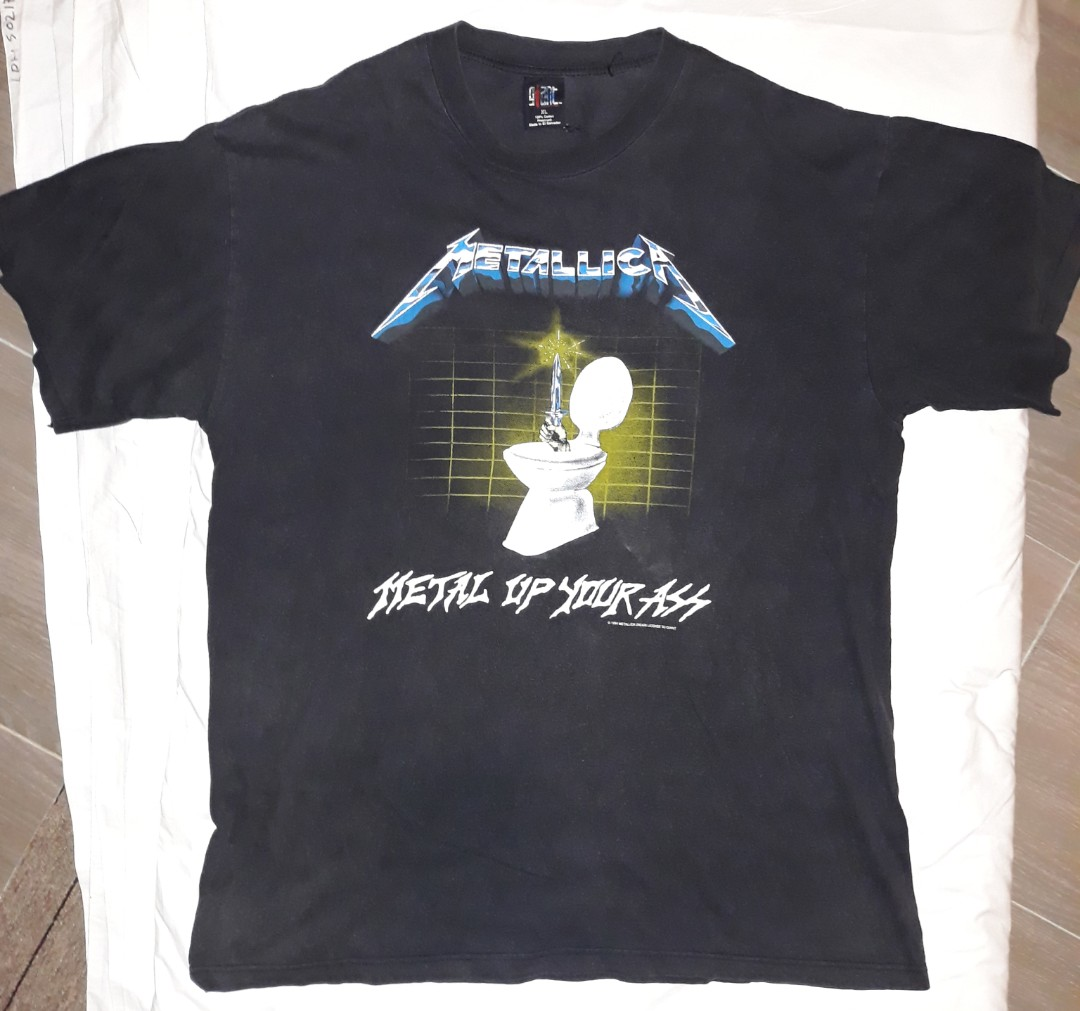fa82ee85fccb Vintage 90s Metallica - Metal Up Your Ass T-shirt, Men's Fashion, Clothes,  Tops on Carousell
