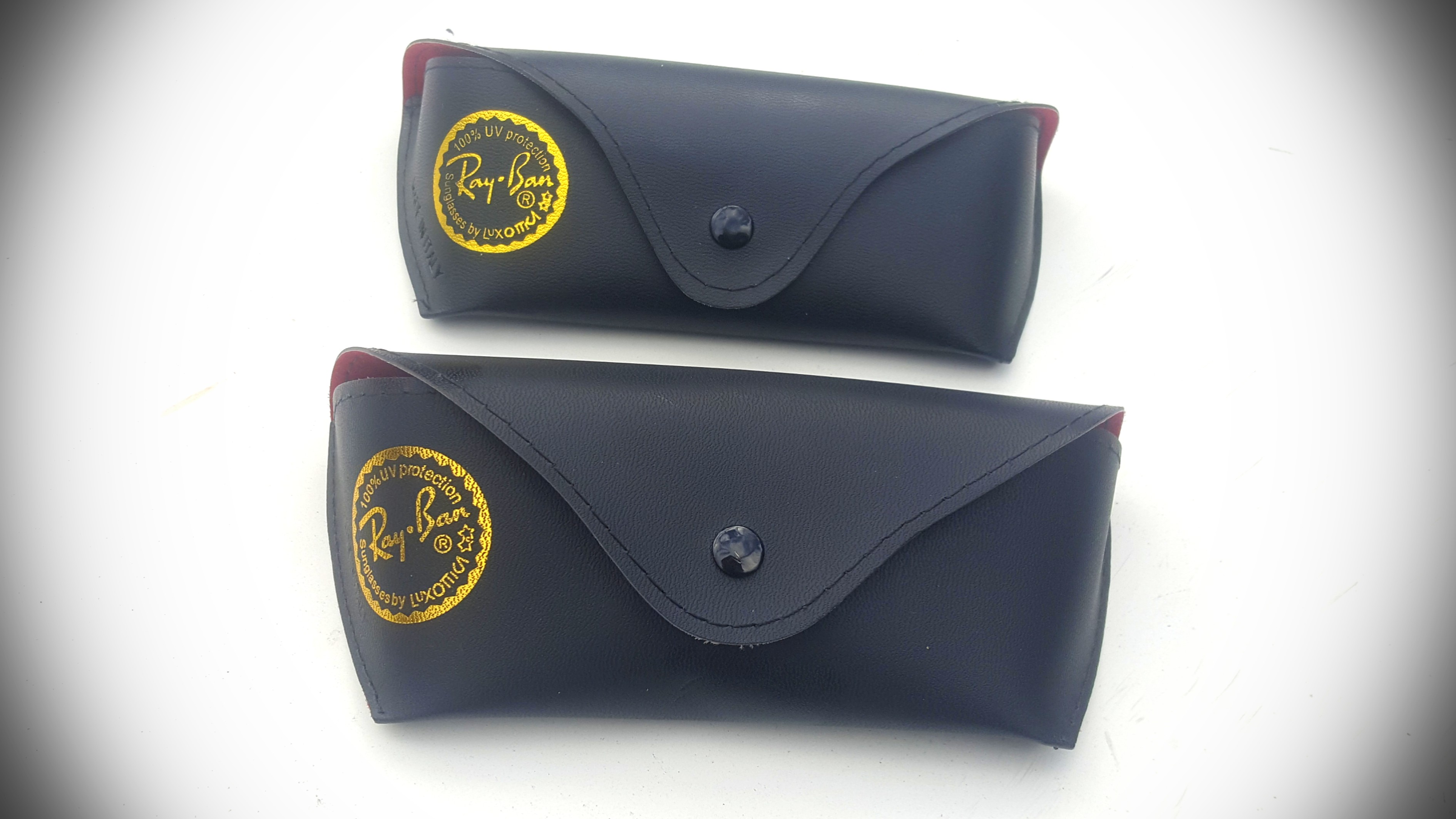 x2 Authentic Rayban Cases Leather Black New × Free Post