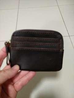 Brown Simple Zip Wallet