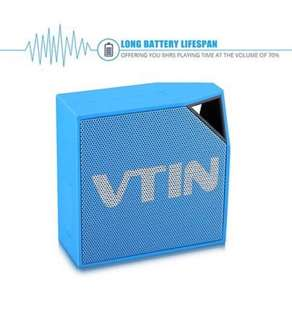 Vtin Cuber Bluetooth 4.0 Speaker, 5W Audio Driver, 8 Hour Playing Time, Built in Waterproof Mic For Shower/Home/Outoor For Smartphones, Tablets, Laptops, PC and All Bluetooth Devices - Blue