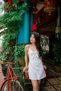 White Linen Dress