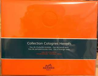 Hermes parfums perfumes colognes collection愛瑪仕古龍水禮盒 15ml x4