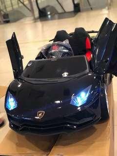Black Lamborghini Aventador Rechargeable Ride On Car