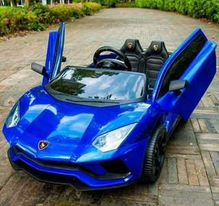 Blue Lamborghini Aventador Rechargeable Ride On Car