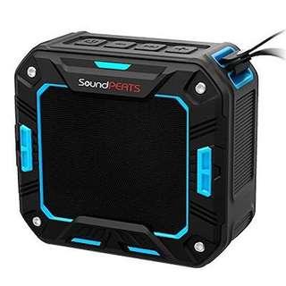 SoundPEATS P2 Portable Waterproof Wireless Bluetooth Speaker with Built in Microphone - Blue B01EY0G