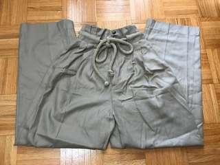 H&M pants with tie belt