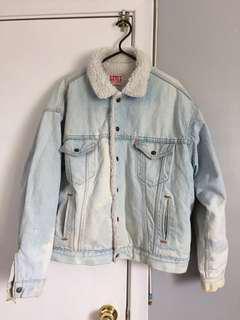 Vintage Sherpa Levis Denim Jacket